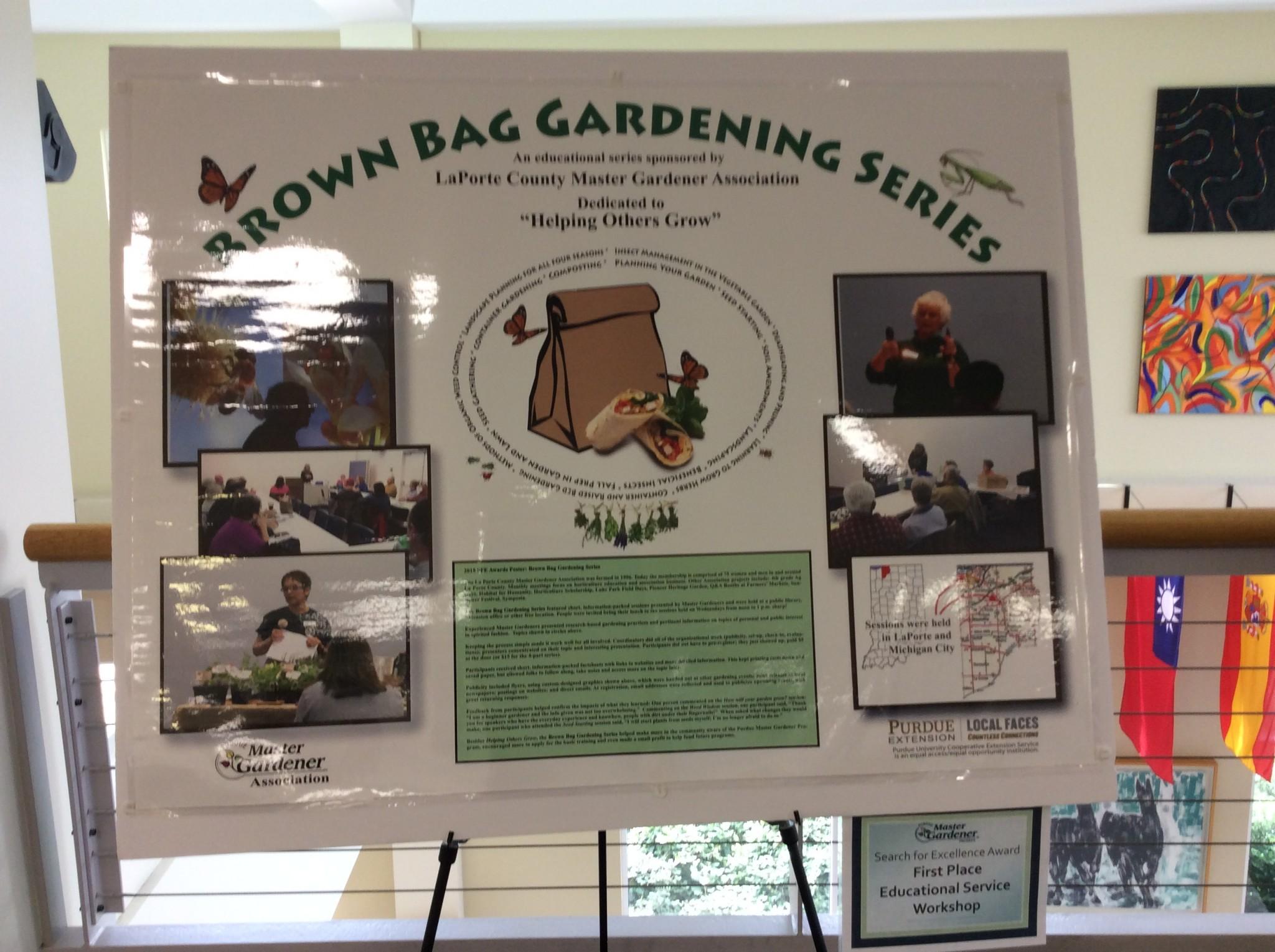LaPorte County Brown Bag Gardening Series Display