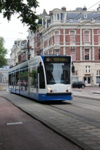 The Tram in Amsterdam