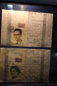 ID cards for a Jewish boy who went into hiding by transforming to a girl.