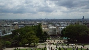 The view of the city from Sacre Cœur