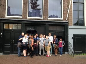 Group in front of Anne Frank Museum