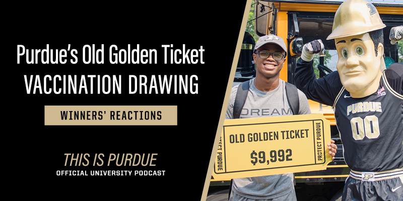 Student with golden ticket