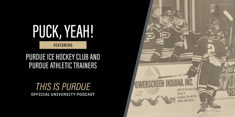 Purdue University's Hockey Club and Purdue athletic trainers the Purdue cycling club