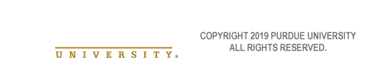 Purdue University ® Copyright 2019 Purdue University. All rights reserved.