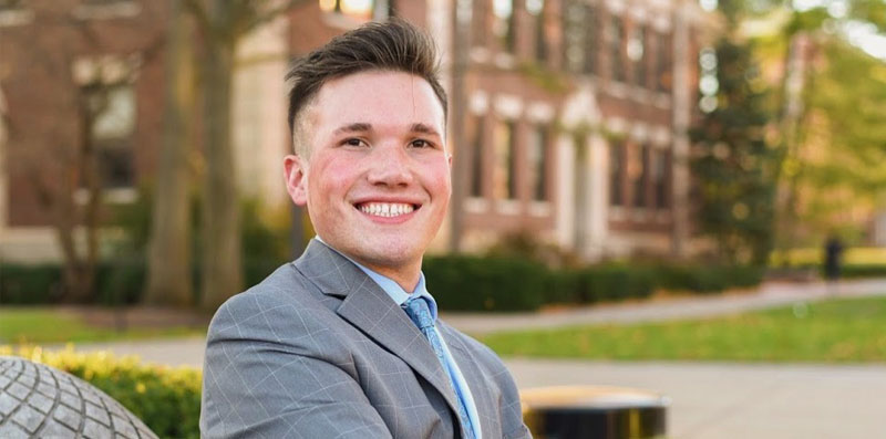 Senior Luke Lael's experience as a queer man at Purdue has been full of support and growth.