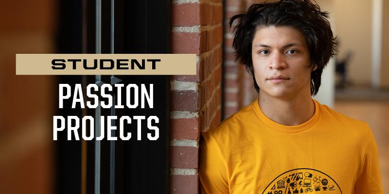 Purdue Polytechnic High School's project-based curriculum inspires Eric Martinez to pursue passions in STEM-focused environment (Purdue University photo/John Underwood)