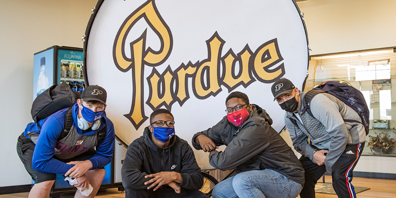 Seniors from Purdue Polytechnic High School celebrated Purdue Day on April 16 with numerous special activities throughout the school day.