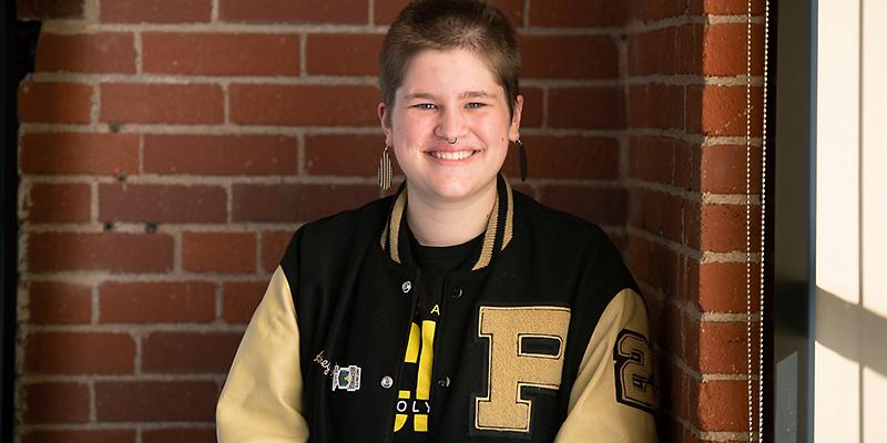 Audrey Williamson, Purdue Polytechnic High School's senior (Purdue University photo/John Underwood)
