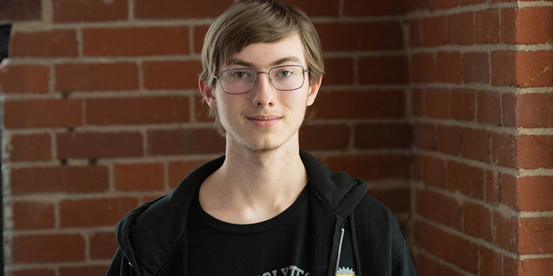 Jonas Gordon from Purdue Polytechnic High School (Purdue University photo/John Underwood)