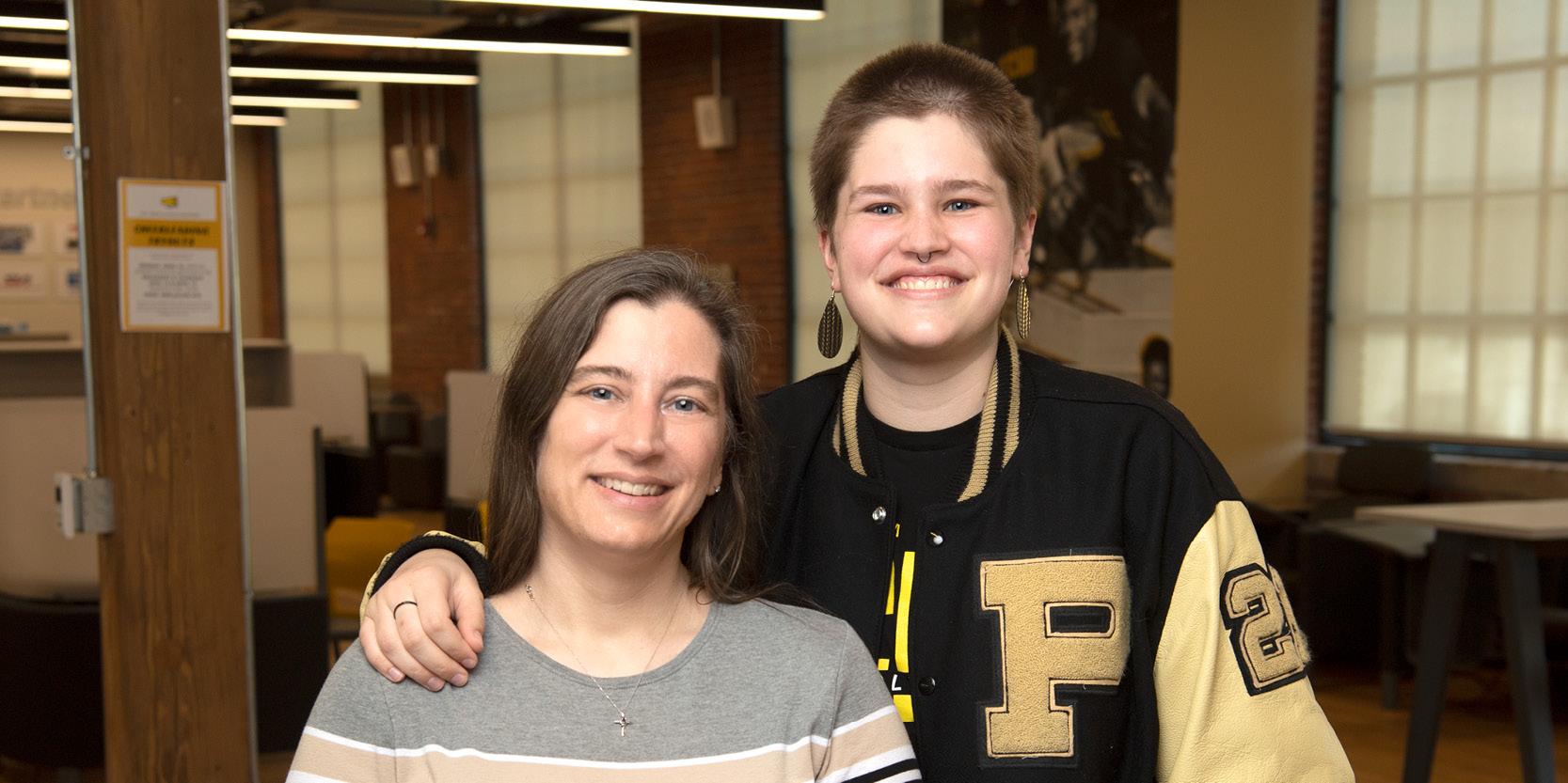 Casady Williamson and daughter Audrey (Purdue University photo)