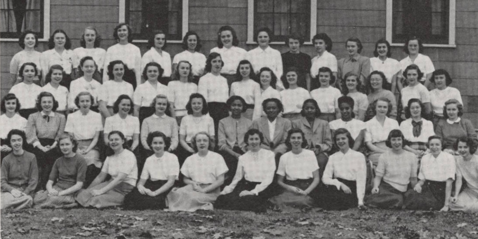 The 1949 edition of the Debris yearbook featured this photo of Bunker Hill residents that includes the Parker sisters.