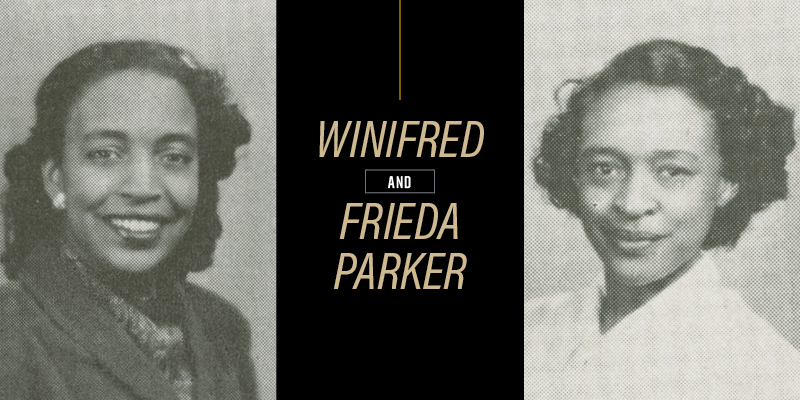 Sisters Winifred and Frieda Parker