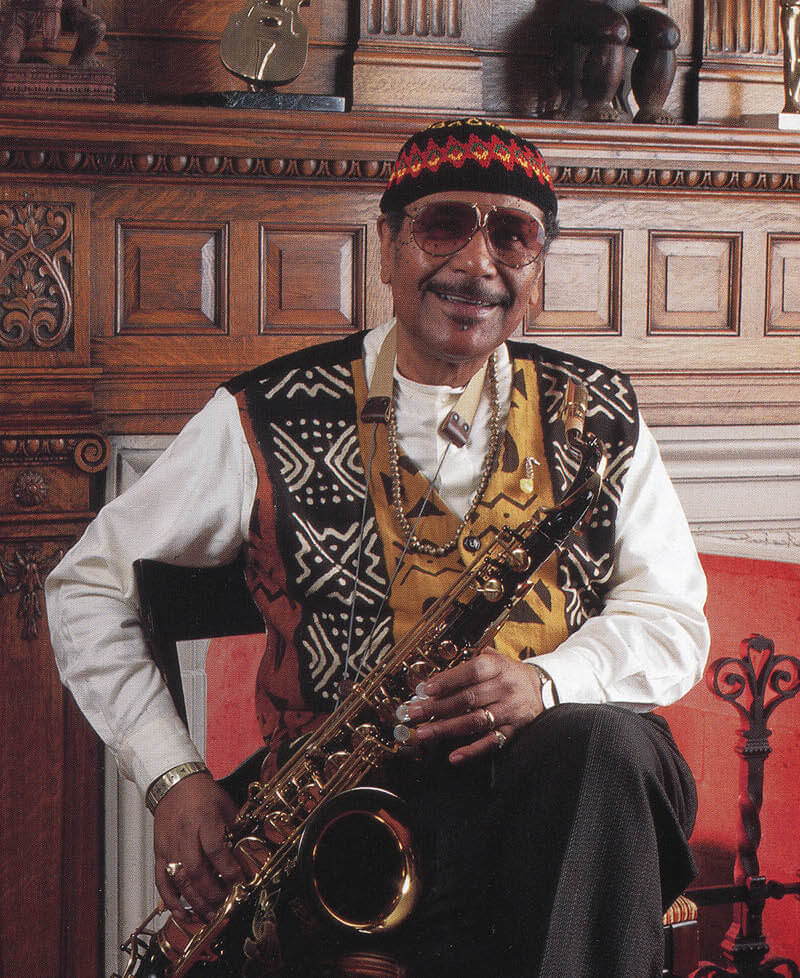 Tony Zamora's contributions went beyond campus — through his commitment to the community's music and arts scene and a love of playing live jazz music with his beloved saxophone.