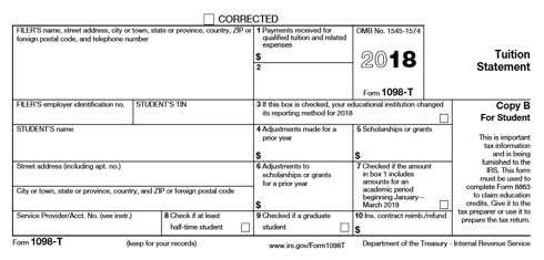 Bursar  T Form Example on student loan interest, community college, completed example, student tax, university maryland, university phoenix, where do you get, for georgia southern, university florida, for career switcher,