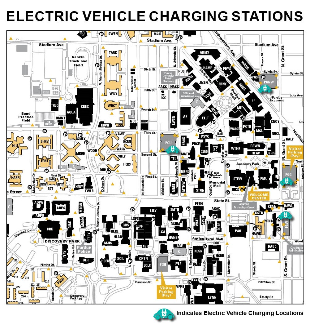 Charging Stations - Purdue University Parking - Purdue University on