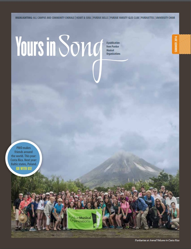 Yours in Song | Purdue Musical Organizations