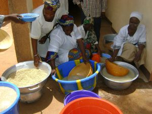 Training on making highquality millet couscous at Incubation Center for Entrepreneurs in Niger