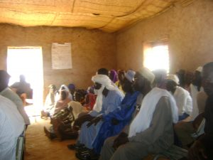 Current and aspiring food processors at training session in Niger
