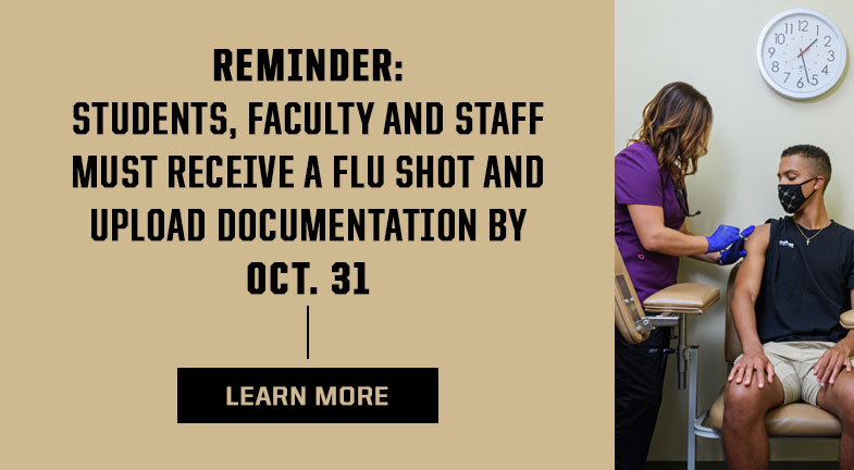 Students, faculty, and staff must receive a flu shot and upload documentation by Oct. 31