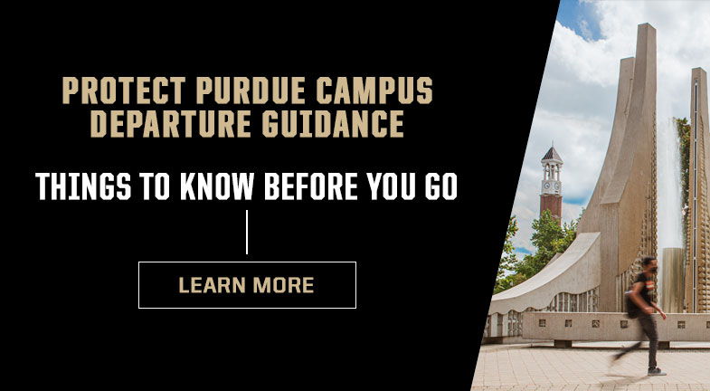 Protect Purdue campus departure guidance