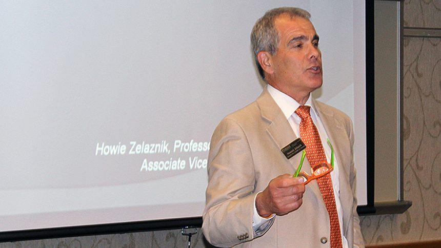 Howard Zelaznak speaking at a grantsmanship event