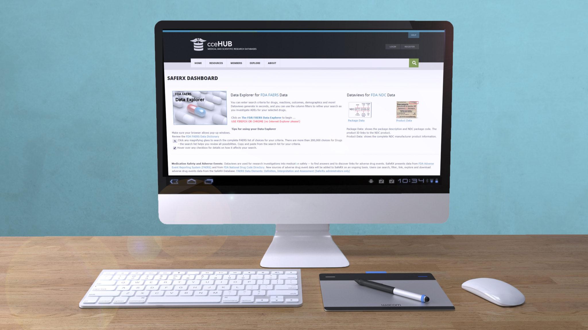Computer showing SafeRX database