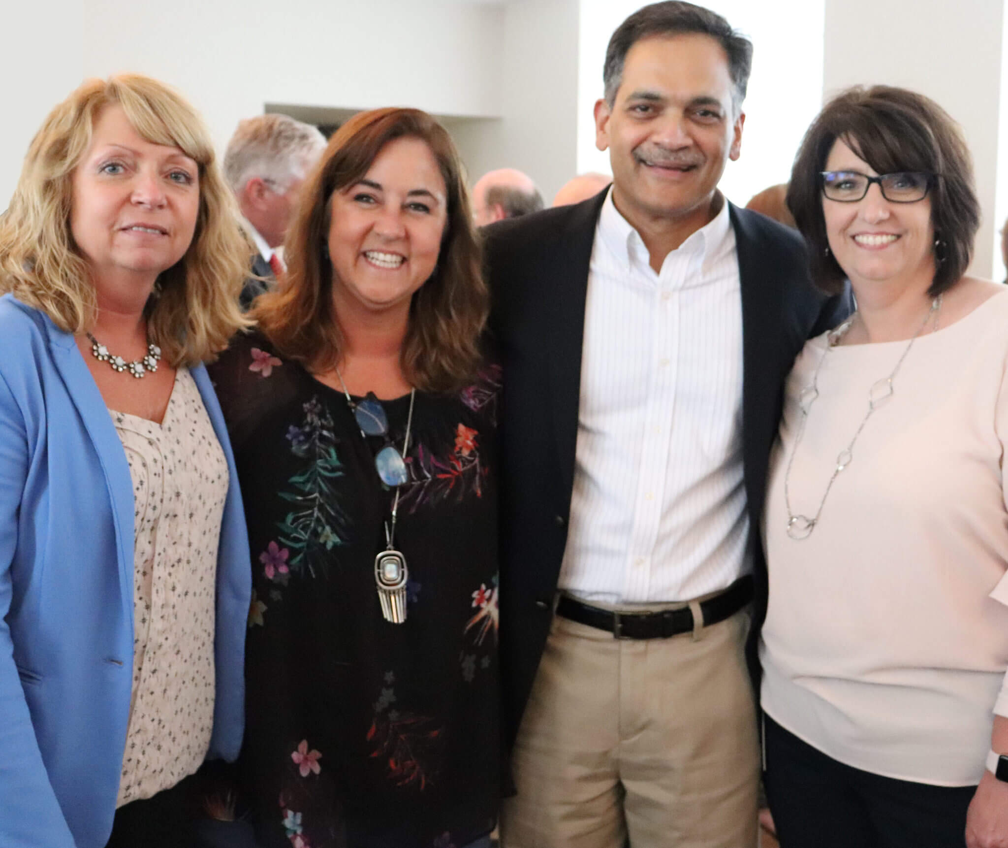 Christy Haddock, Donna Brown, Suresh Garimella and Amy Wright.