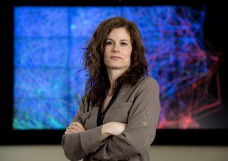 Jennifer Neville, associate professor of computer science and statistics, in Lawson Computer Science Building. (Purdue University photo/Mark Simons)