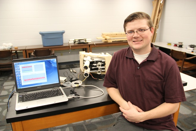 Purdue Physics senior Chris Kraner