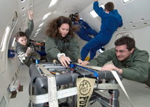 Purdue students in NASA's Vomit Comet