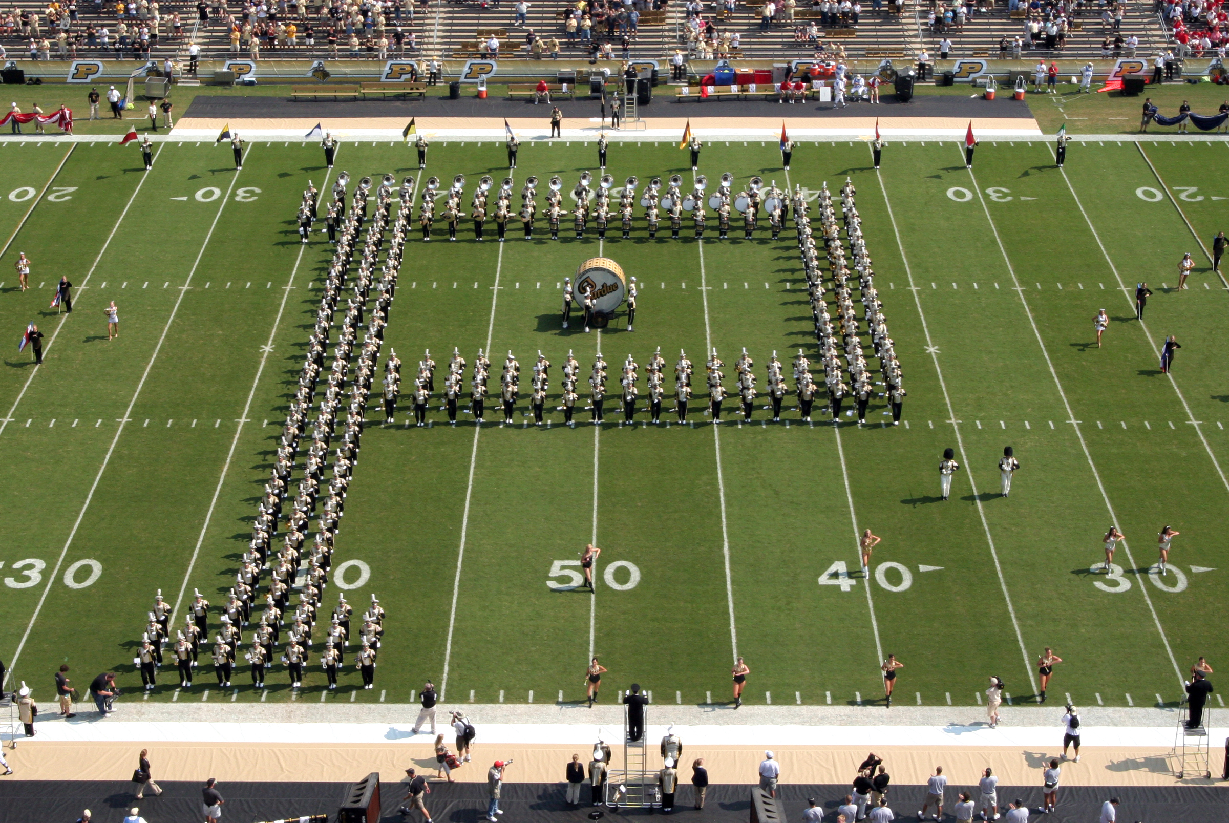 Purdue 'All-American' Band's historic Block P turns 100