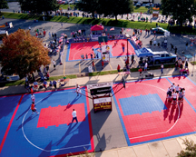 Aerial view of the 2006 Gus Macker 3-on-3 Tournament