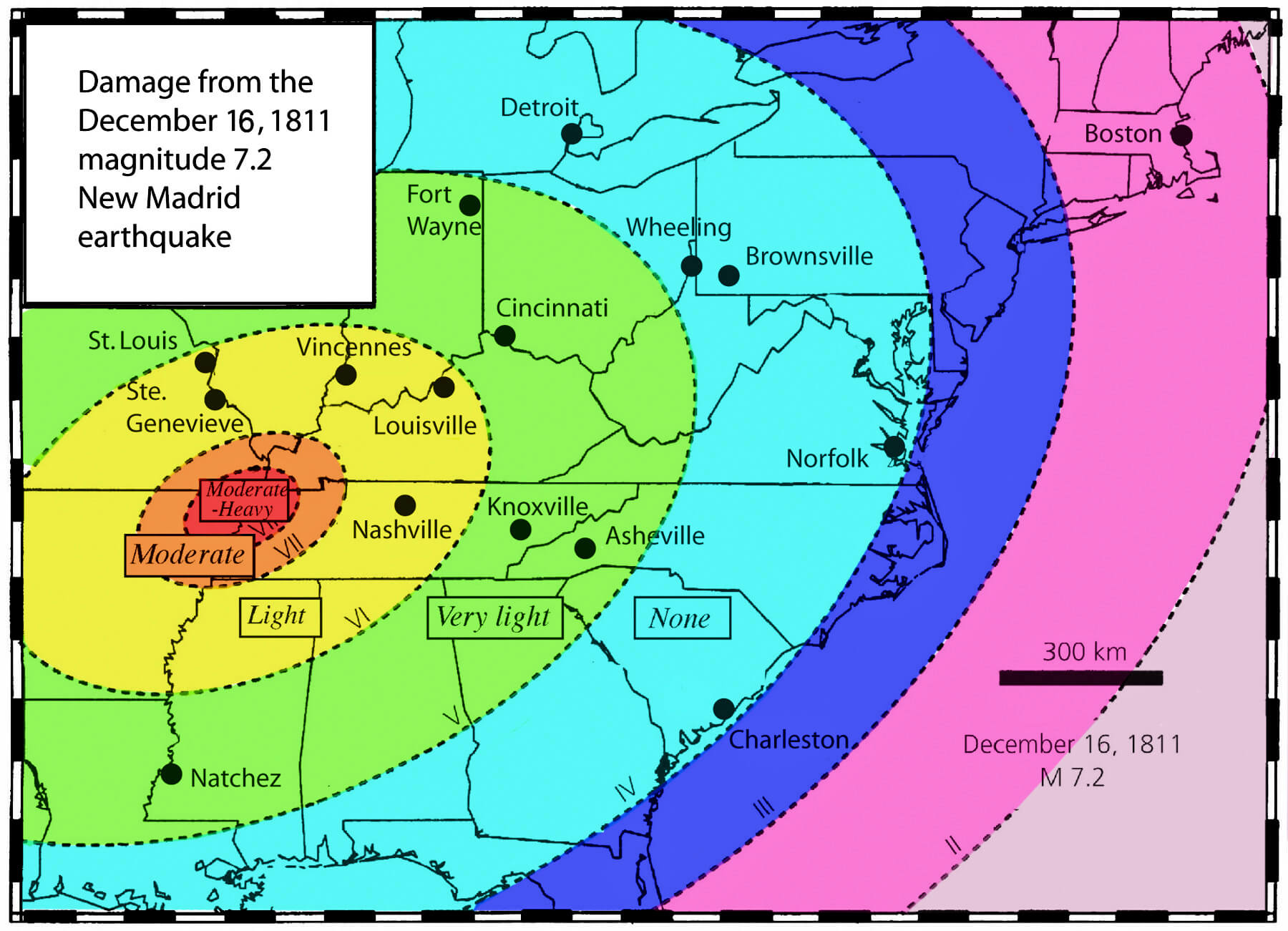 New Madrid Fault System May Be Shutting Down - Map of major us fault lines
