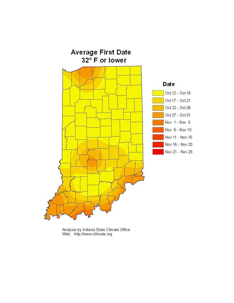 Cool weather in Indiana a sign of frost, freeze soon?