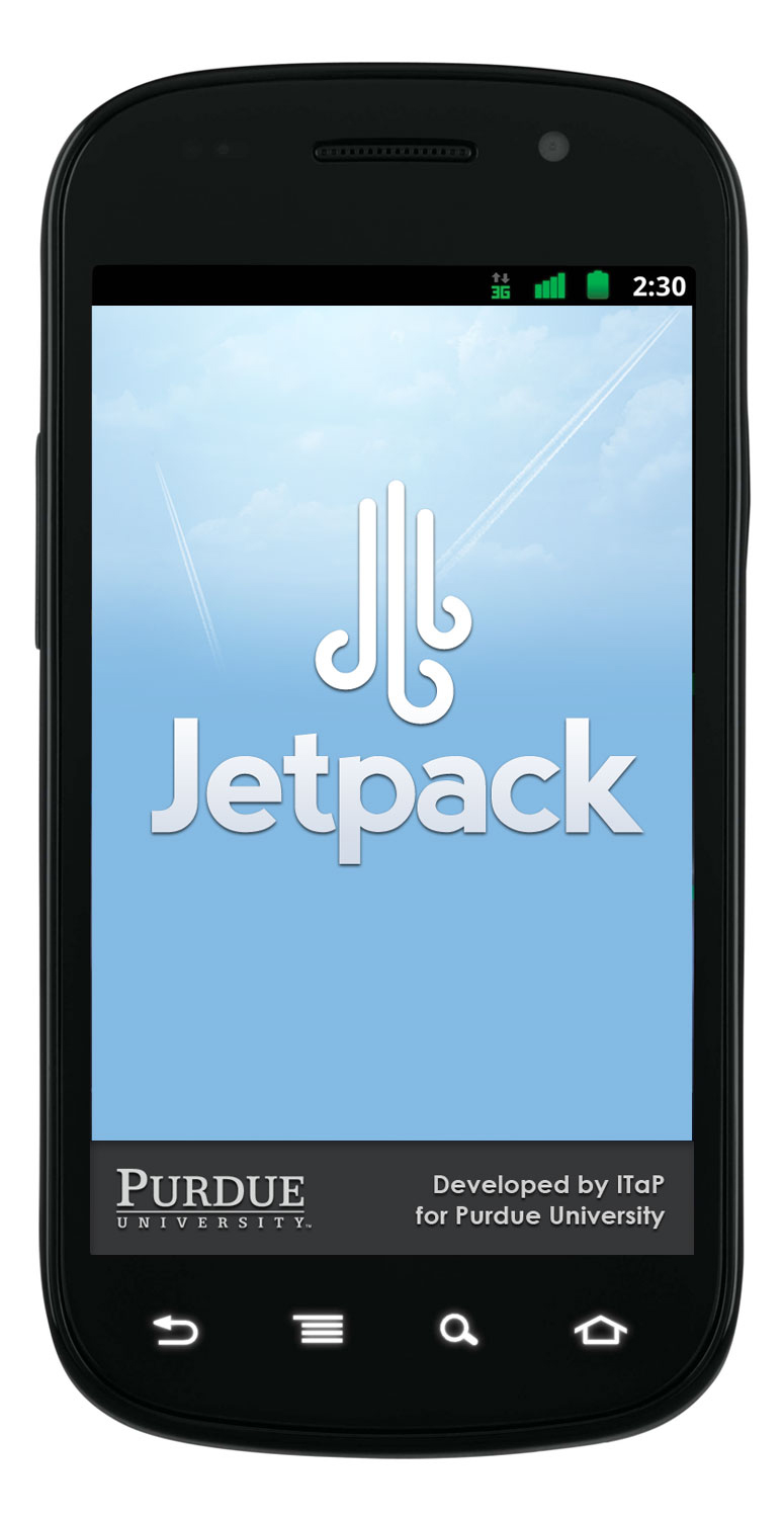 Images of the JetPak mobile app