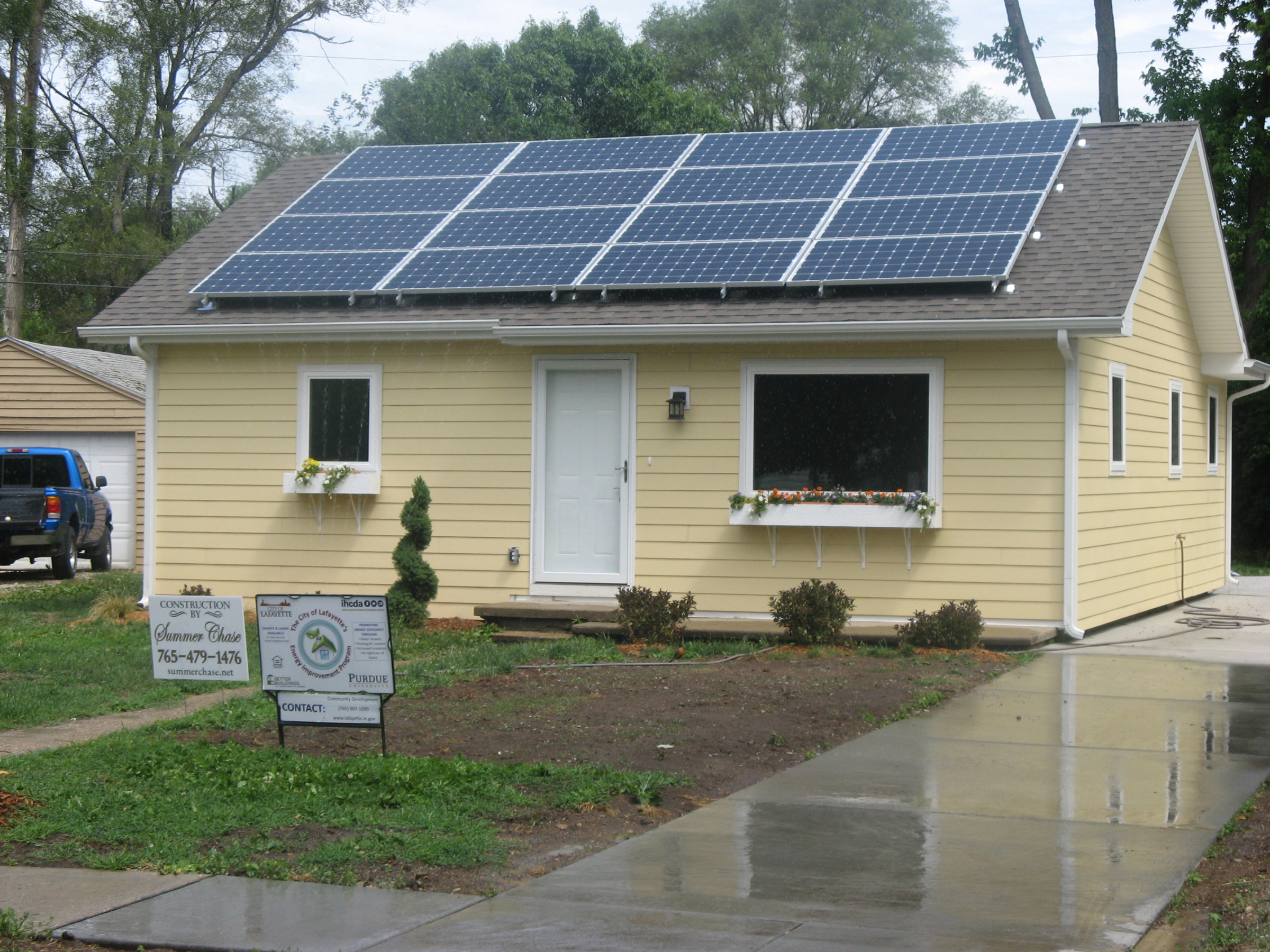 Purdue students make lafayette home super energy efficient for Energy house