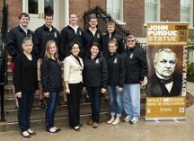 Cordova Foster students John Purdue statue
