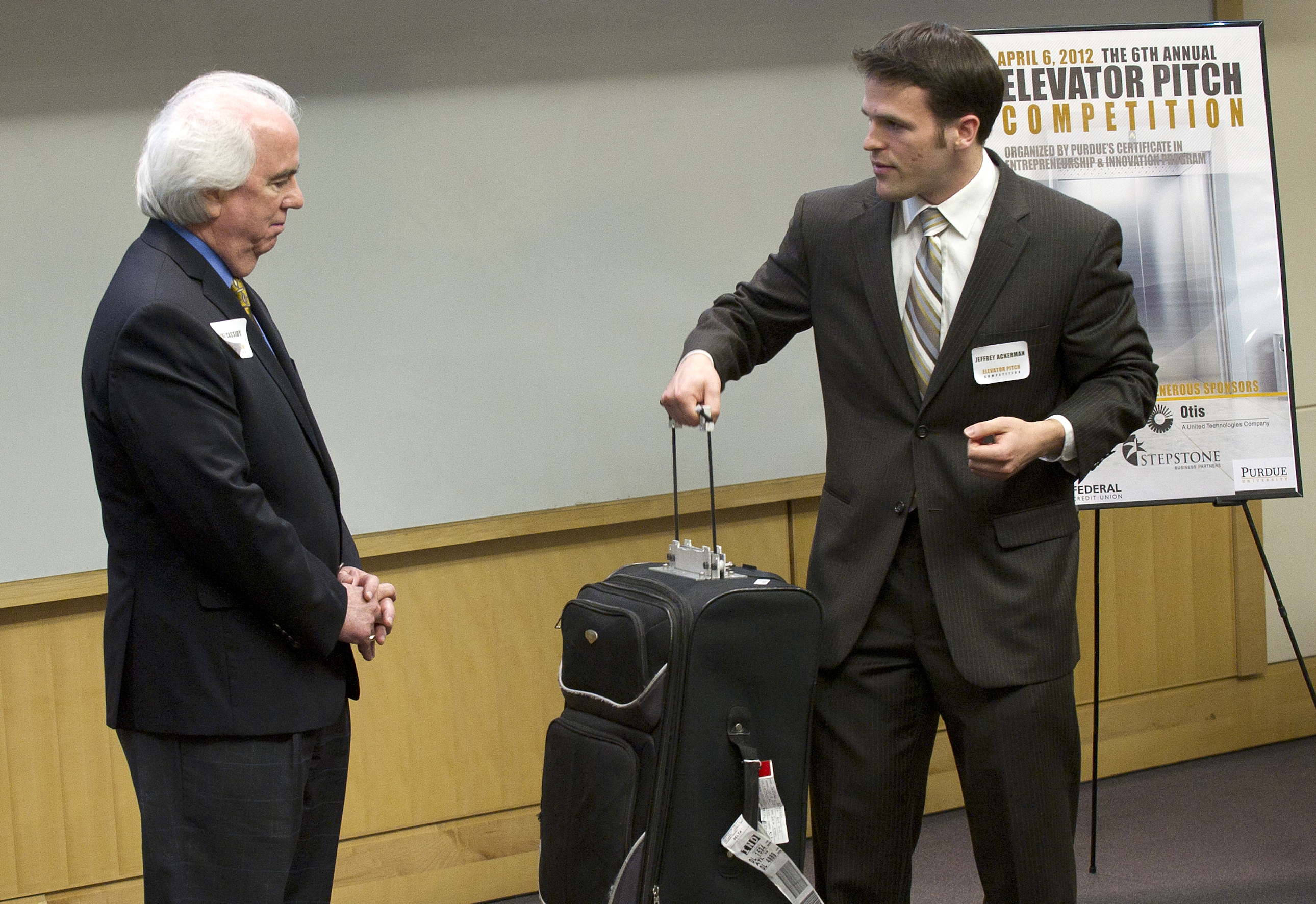 Innovative car seat buckle, suitcase handle take top spots at 6th annual Purdue Elevator Pitch ...