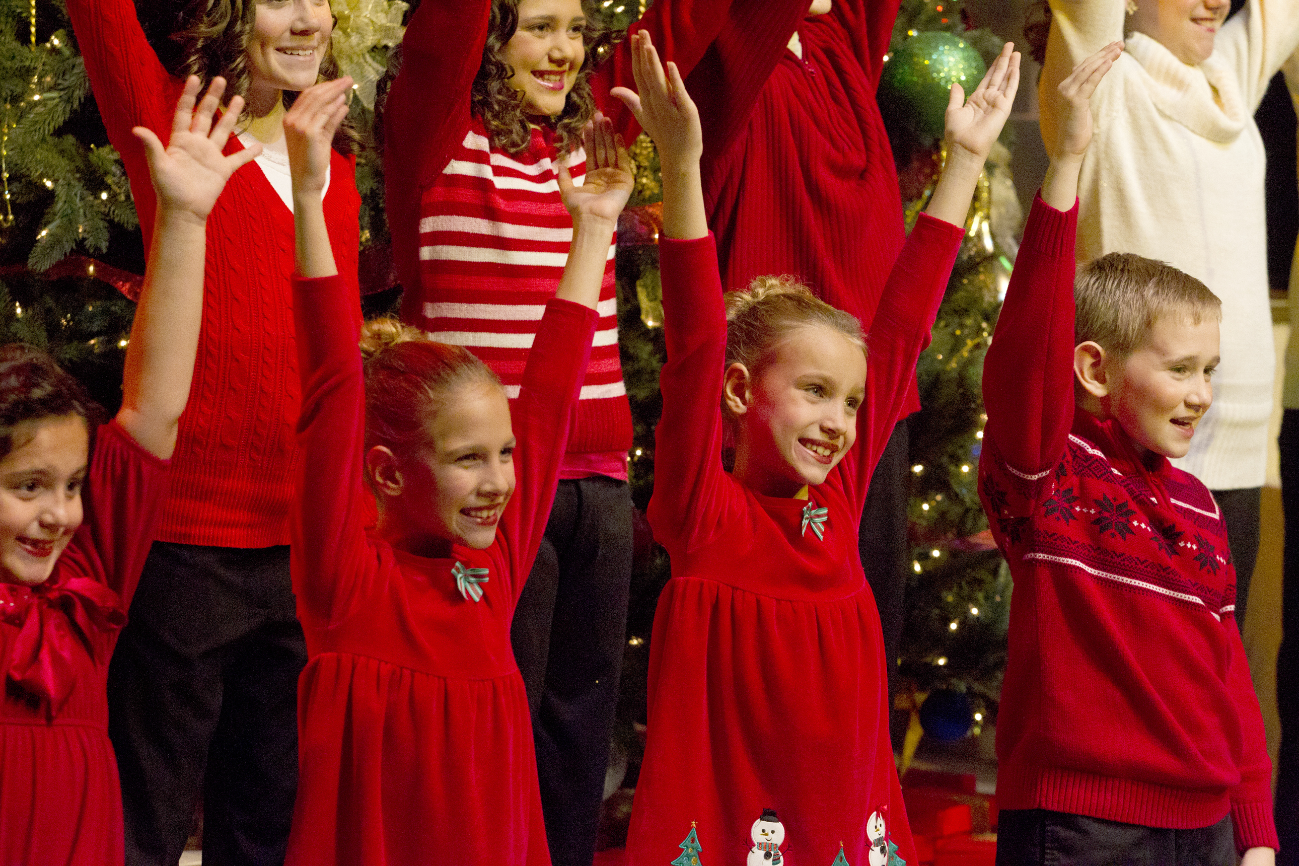 the kids choir shown in this file photo has been a key part of the annual purdue christmas show for many years