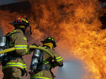Firefighters take part in exercise