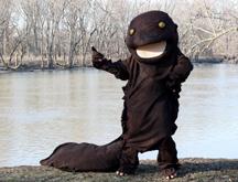 Hellbender mascot