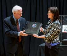 Cernan donates moon map