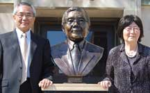 Ei-ichi Negishi and his wife, Sumire