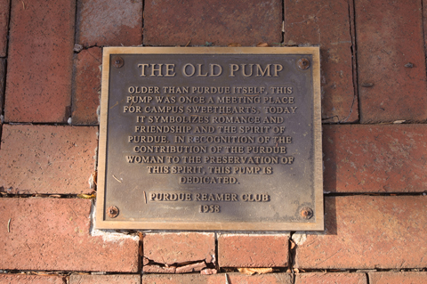 Old pump plaque