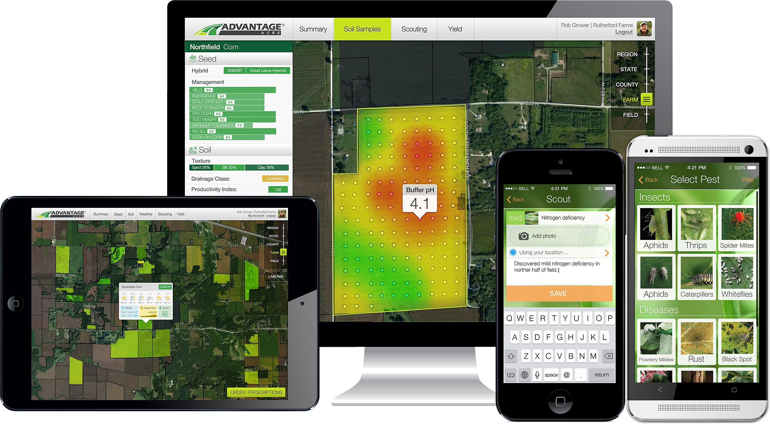 precision farming yields high profits in Precision farming: a comprehensive approach id for example, use green for areas with high yields, yellow for areas with medium yields, and red for areas with low yield precision farming tools: yield monitor, (vce publication 442-502.