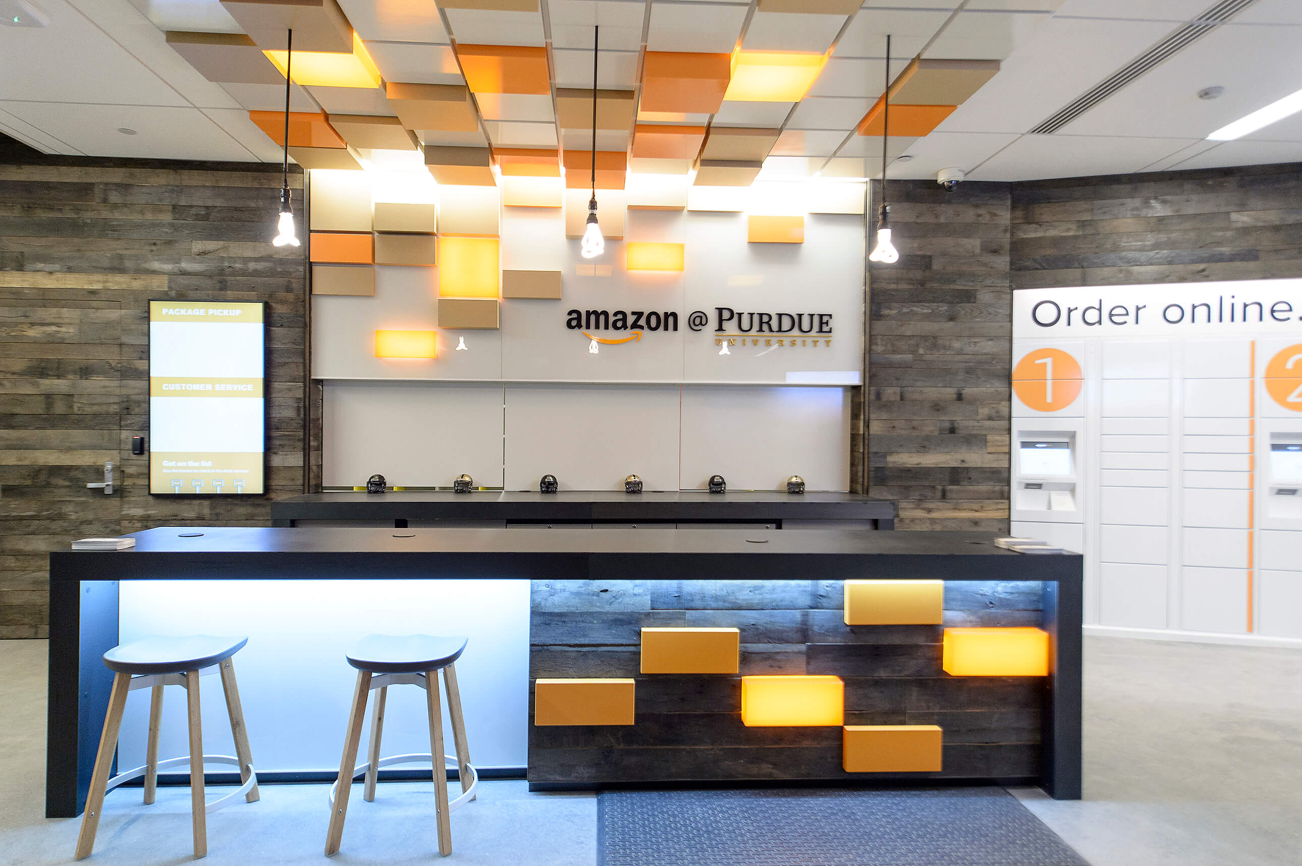 Amazon launches first ever staffed campus pickup and drop for Amazon design shop