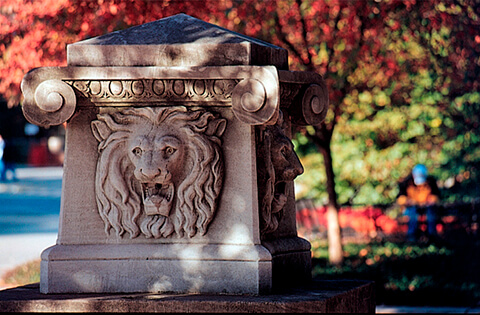 Image result for lion fountain purdue