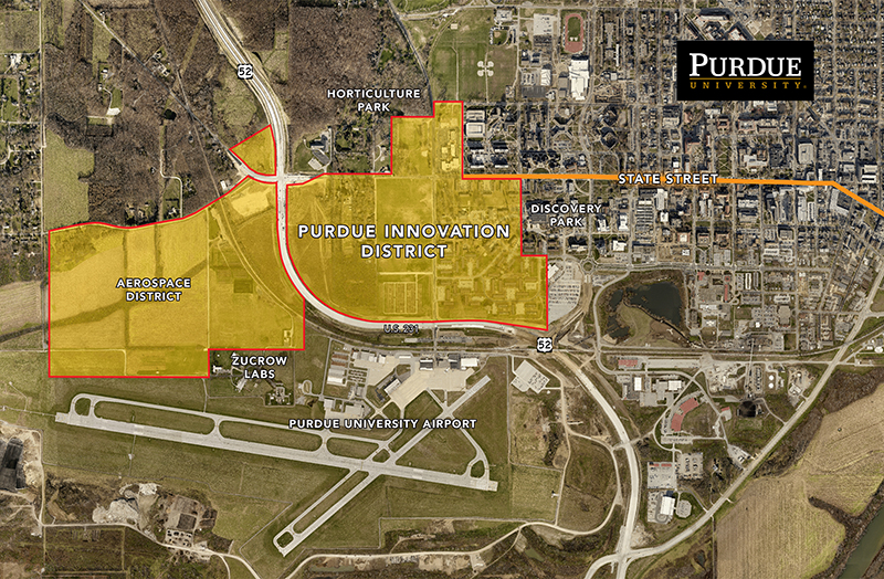 Purdue Innovation District map