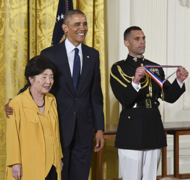 Nancy Ho with President Obama