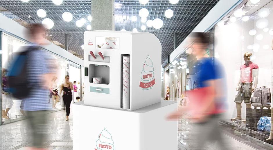 Purdue students build robotic frozen yogurt kiosk with